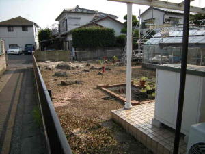 庭木の伐採と草刈り
